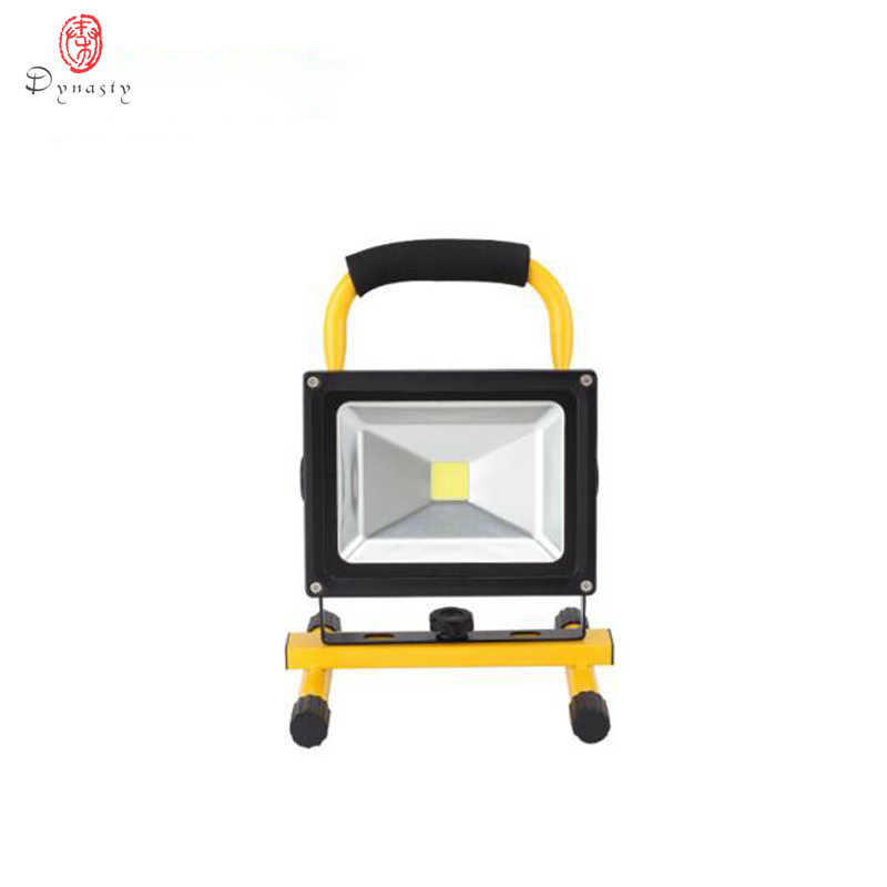 LED Portable Floodlight 20W Rechargeable Spotlight Lithium-ion Battery Outdoor Emergency Camping Fishing Night Work IP65 Dynasty ground lamp 50w l2 rechargeable led floodlight spotlight handle emergency flashlight mobile outdoor camping light hiking lamp