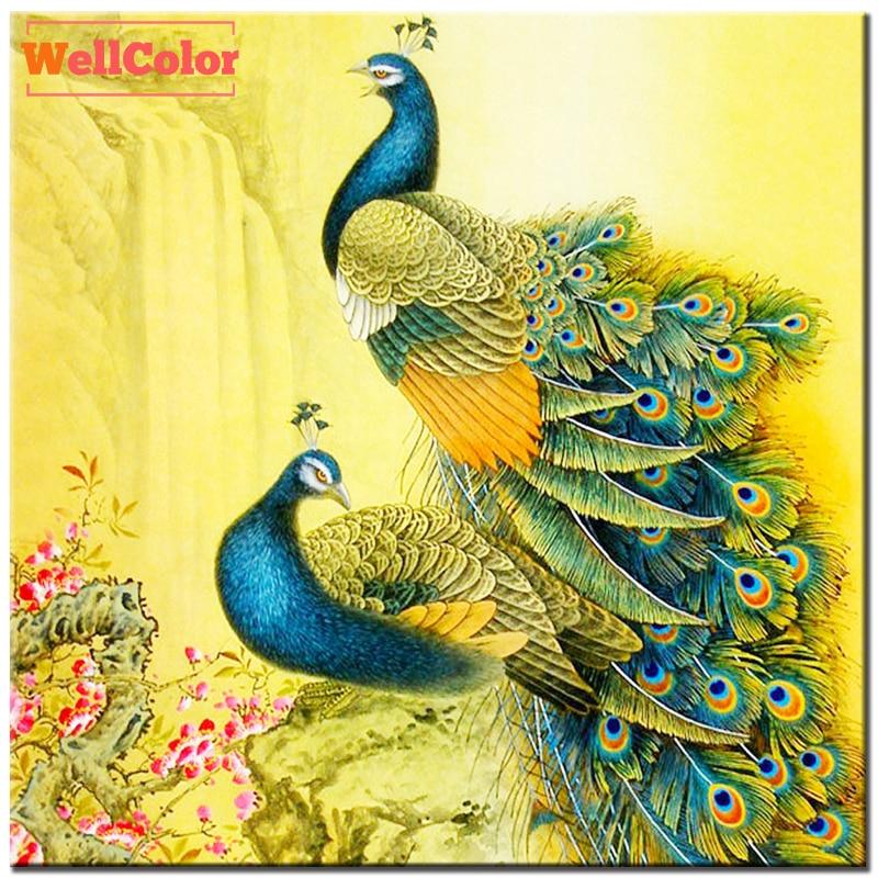 Unduh 1050+  Gambar Burung Merak Lukisan HD Terbaik Gratis