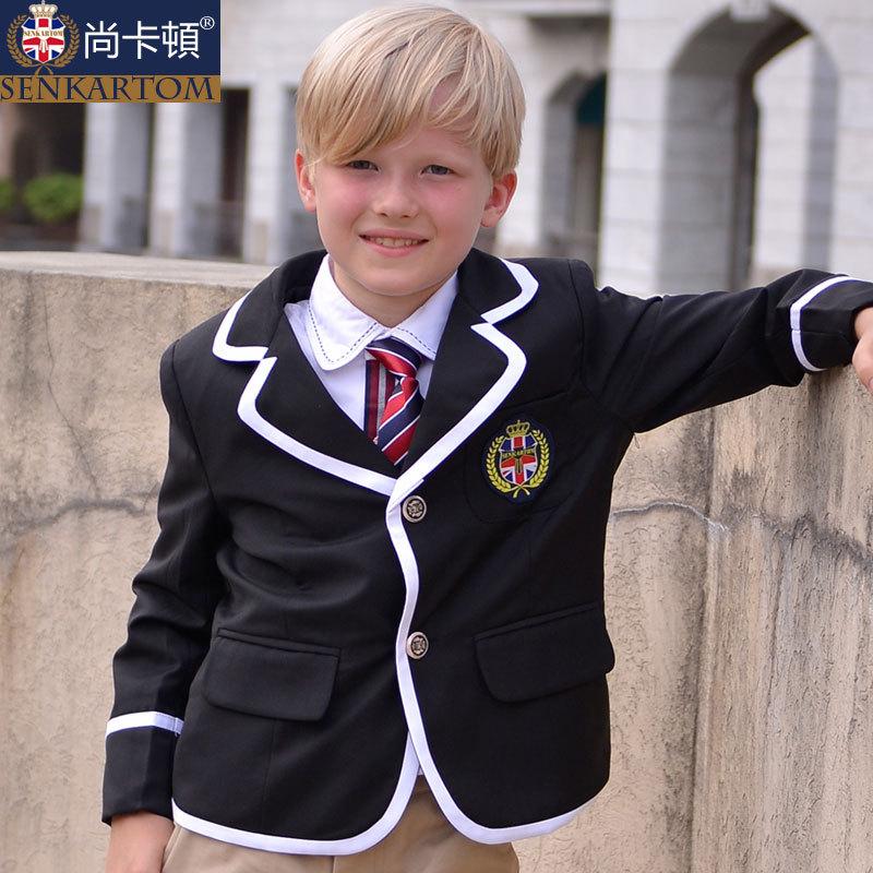 Male child formal dress,autumn children's clothing,kid's blazer suit,size 100-170 students' school uniform - SENKARTOM Official Store store
