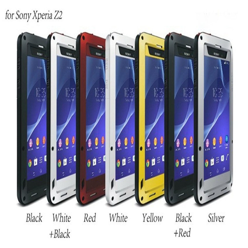 LoveMei Stärkste Protector für Sony Xperia Z2 Wasserdichte Metall Silikon Fall mit...