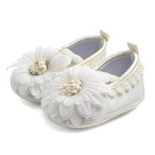 цена на Baby Boys Girls First Walkers Church Soft Sole Silk Shoes christening Baptism Zapatillas Bebe Lace Shoes