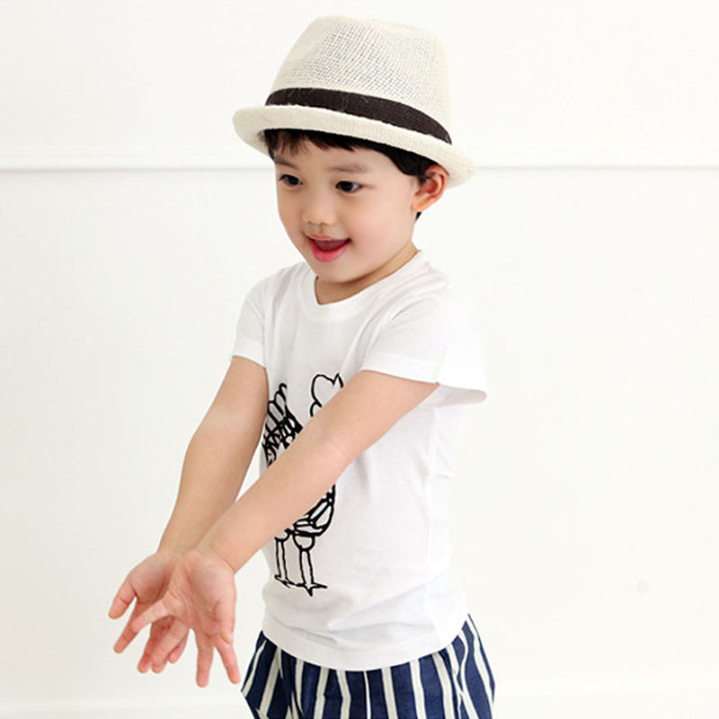 2-7Y-Kids-Toddler-Boys-Short-Sleeve-Cotton-T-shirt-Summer-Pullover-Tee-Tops-B998-5