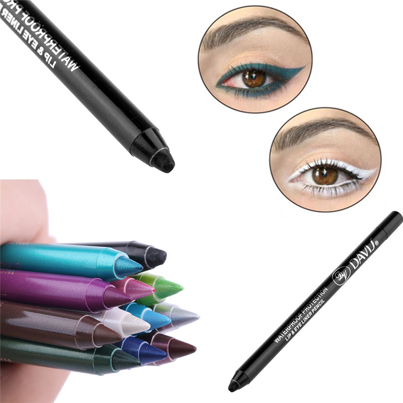 1PC Fashion Women Long-lasting Eye Liner Pencil Pigment White Color Waterproof Eyeliner Pen Eye Cosmetics Makeup Tools