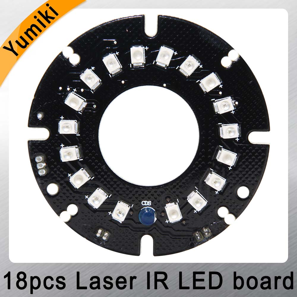 Yumiki Infrared 18pcs Laser IR LED Board For Night Vision Dome IP CCTV Camera Security Surveillance Cameras(Diameter: 54mm)