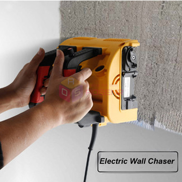 220V 1200W Electric Wall Chaser Groove Cutting Machine Wall Slotting Machine Concrete Planer