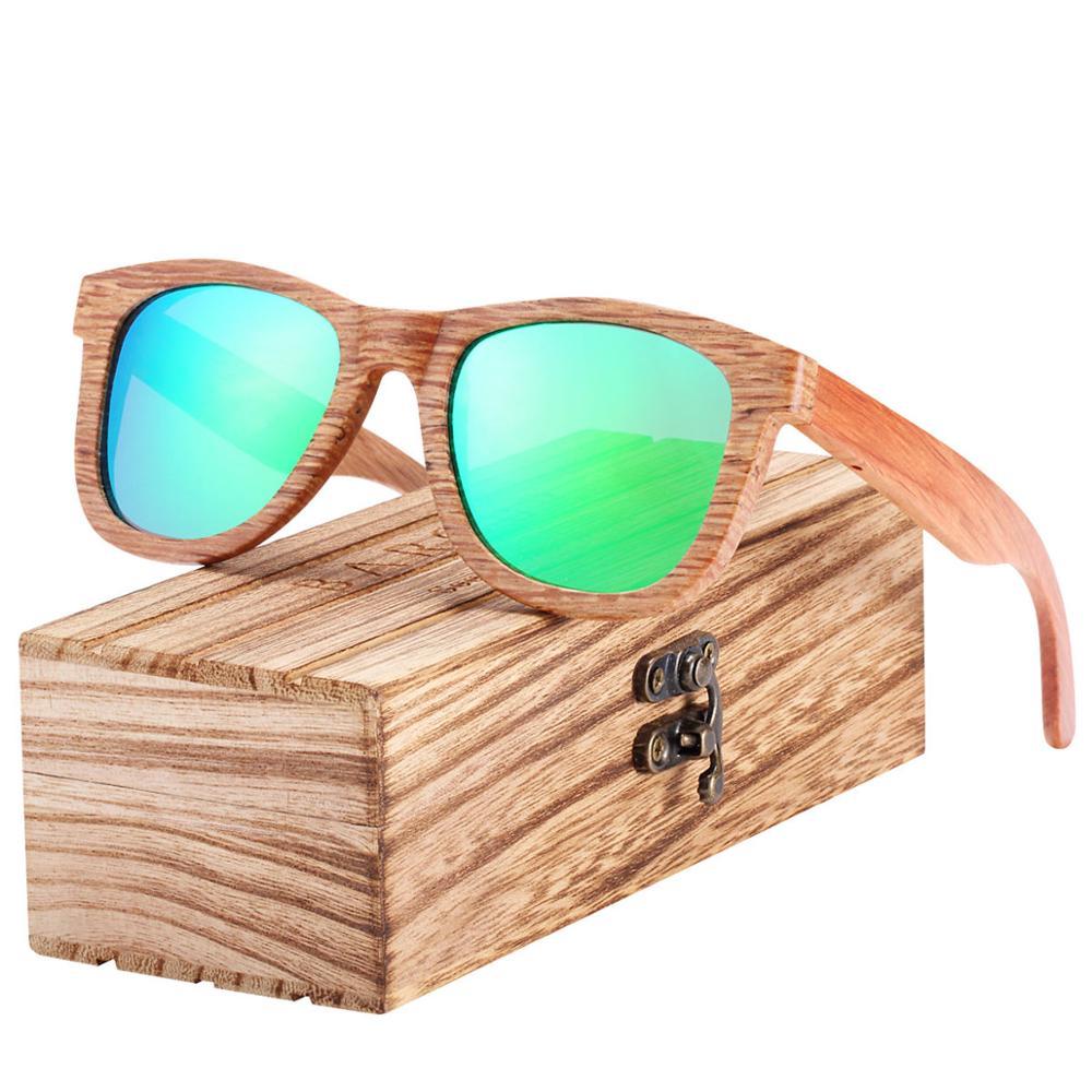 BARCUR Natural Wooden Sunglasses for Men Polarized Sunglasses Wood oculos de sol feminino frete gratis 9