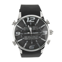 Fashion Round Quarts Wrist Watch Stylish Silicon Watch With Silver Black Color New Hot Selling