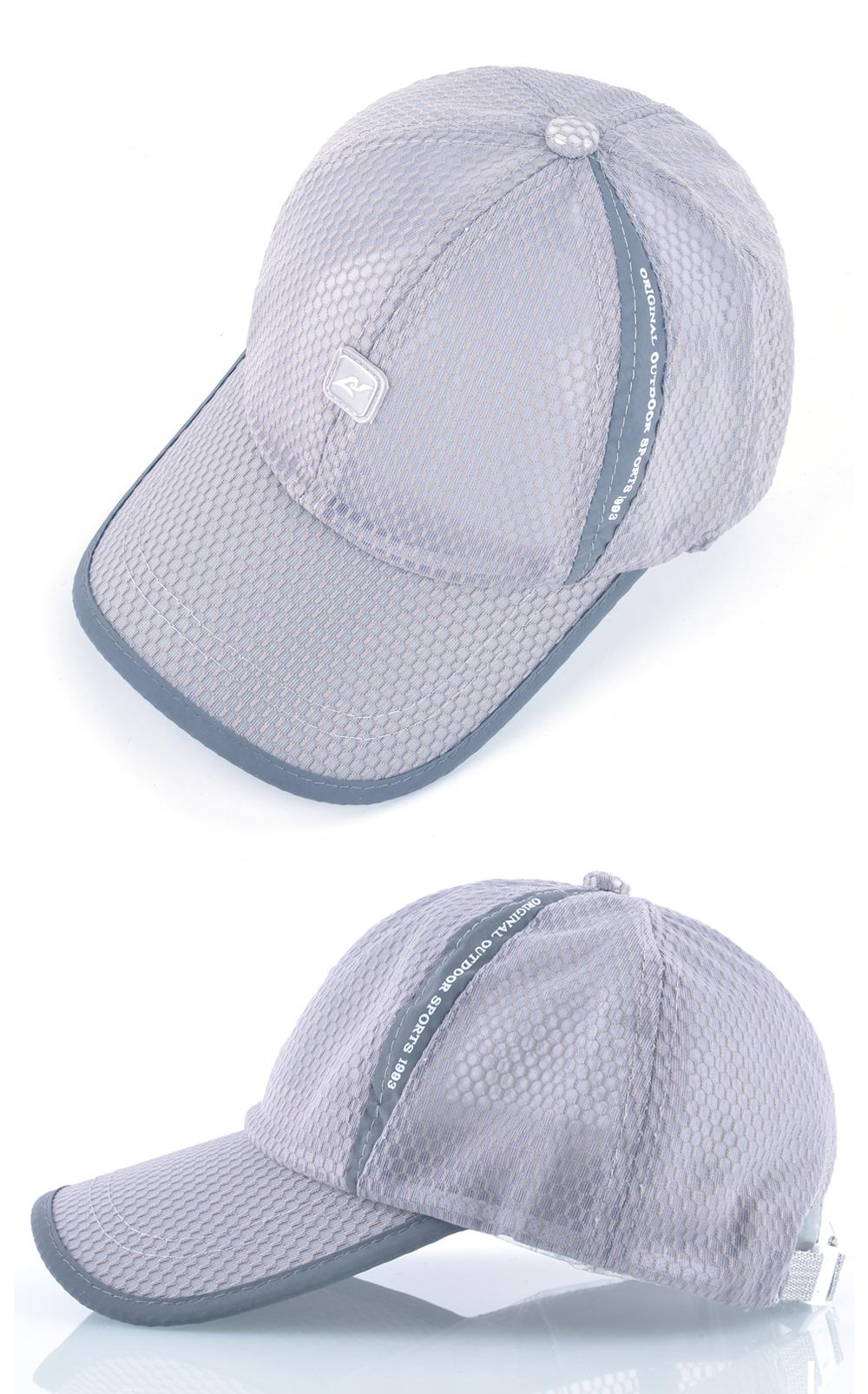Open Mesh Breathable Baseball Cap - Overhead and Side Views