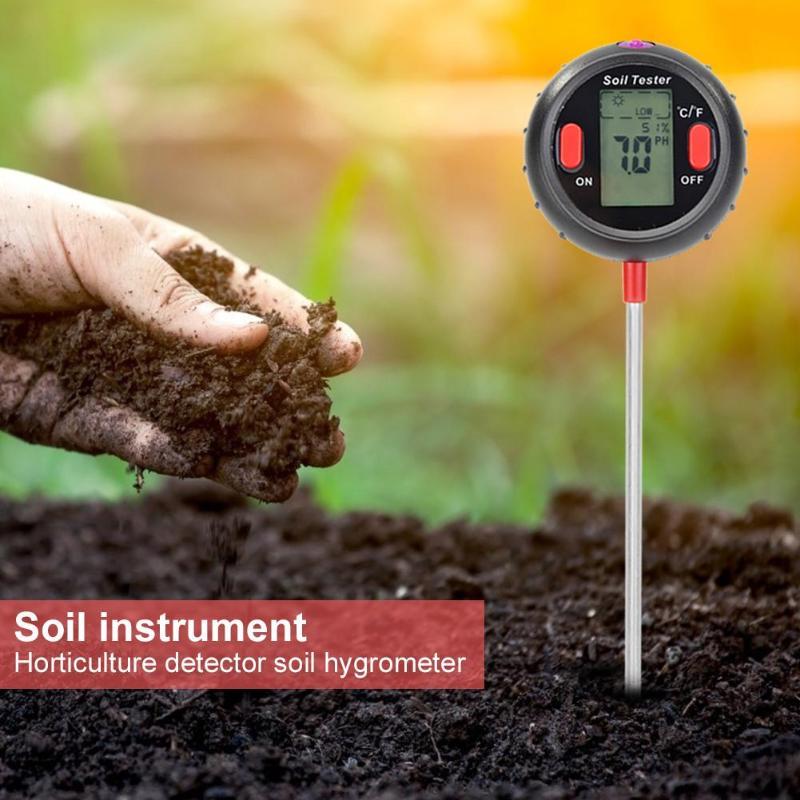 5 em 1 Digital Monitor De Temperatura E Umidade Do Solo medidor de PH Medidor de Umidade Do Solo PH Medidor de Umidade Testador de Intensidade de Luz Para Jardim