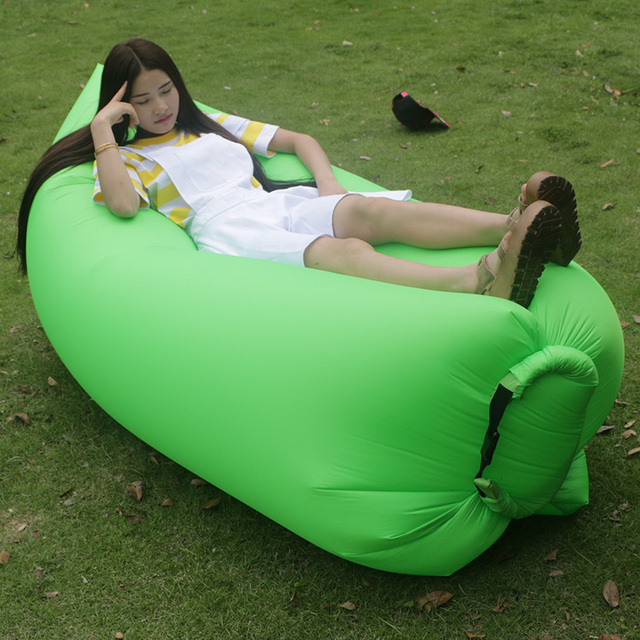 Geenbeanbag Inflatable Sofa Beanbag Chair Sitting Room Pad Outdoor Self Expansion Deformation Of