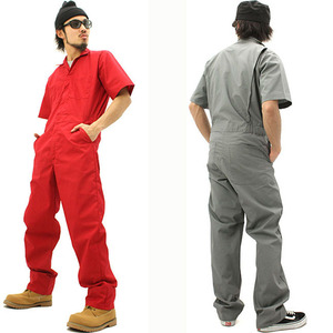 Image 3 - Coveralls Men Sets Short sleeved Overalls Jumpsuit Safety Clothing Thin Leotard Repair Auto Welders Crew Painter Car Wash Worker
