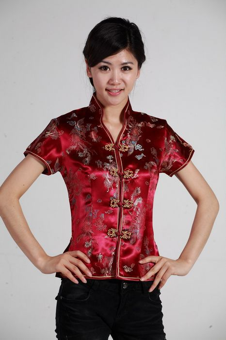 66a30f28de6a5 Shanghai Story Short Sleeve ladies chinese shirt Summer Chinese Women s  Lotus print Shirt Top chinese blouse ...