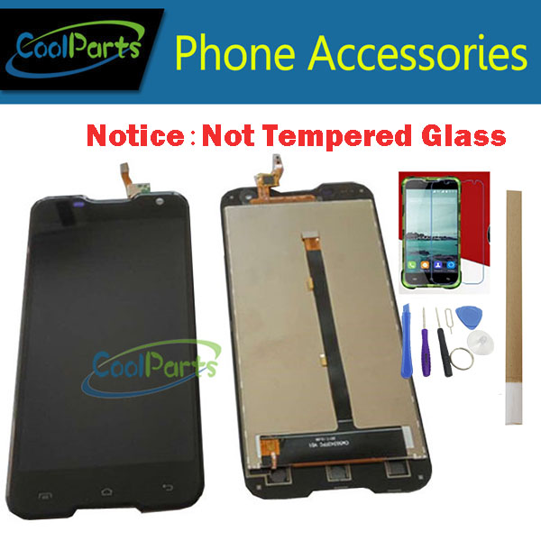 1 pz/lotto di Qualità Originale Per Blackview BV5000 LCD Screen Display + Touch Screen Digitizer Assembly Colore Nero Con Kit