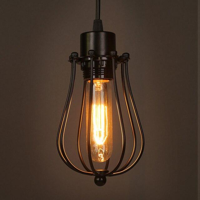 Fabuleux Vintage Loft Lustre lampes suspendues industrielle Cage pendentif  WB62