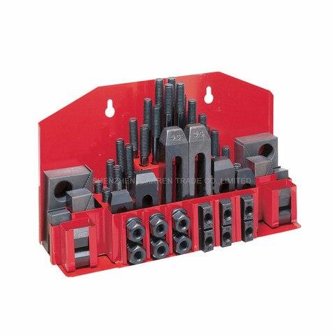 Conjunto de Fixação Moinho de Moagem 58 Pcs Acessórios da Máquina Conjunto Kit Braçadeira Vice Metex M12