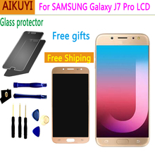 For Samsung Galaxy J7 Pro 2017 J730 SM-J730F J730FM/DS J730F/DS J730GM/DS LCD Display+Touch Screen Digitizer Replacement Parts чехол для samsung galaxy j7 2017 sm j730fm wallet cover золотистый