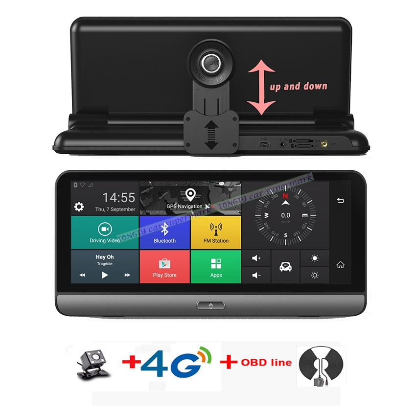 4G ADAS Car Camera GPS 7.84 Android 5.1 Car DVRs WIFI 1080P Video Recorder Registrar dash cam DVR Parking Monitoring