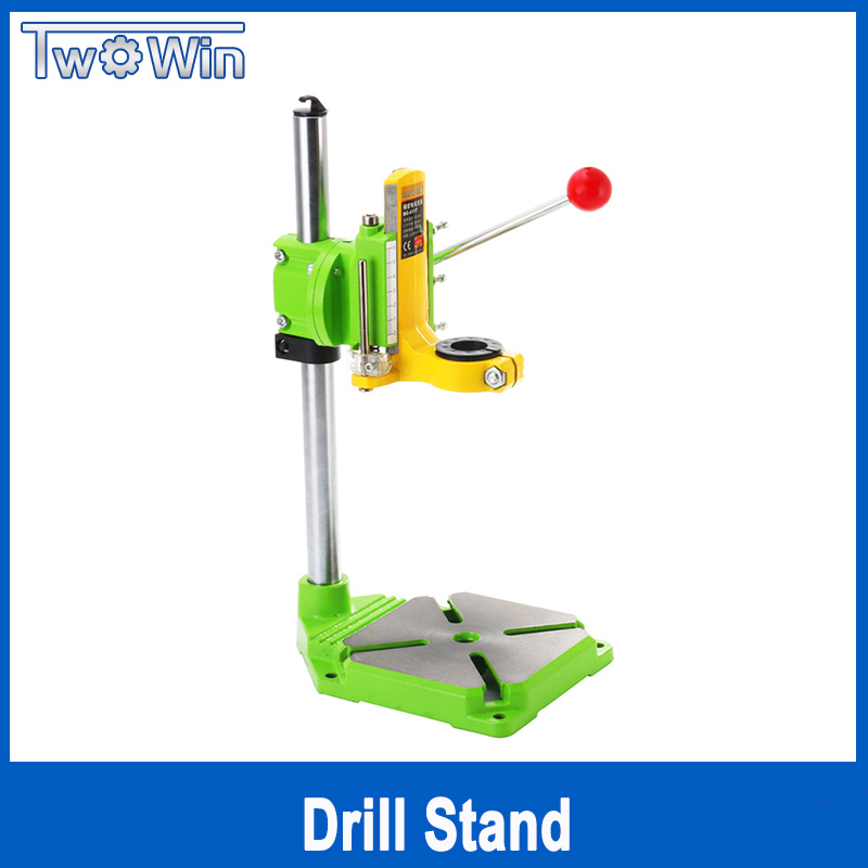Twowin Electric power Drill Press Stand for Drill Workbench Repair Tool Clamp for Drilling Collet Table 35&43mm 0-90 degrees стоимость