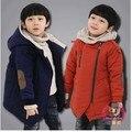 Brand New 2017 Otoño Invierno Moda y Casual Chaquetas de Cachemira del Muchacho del Cabrito de Manga Larga Con Capucha Abrigos Para Niños ropa