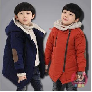Nova Marca 2017 Outono Inverno Jaquetas do Menino do Miúdo Moda & Casual Cashmere Manga Longa Com Capuz Casacos Crianças Quente roupas