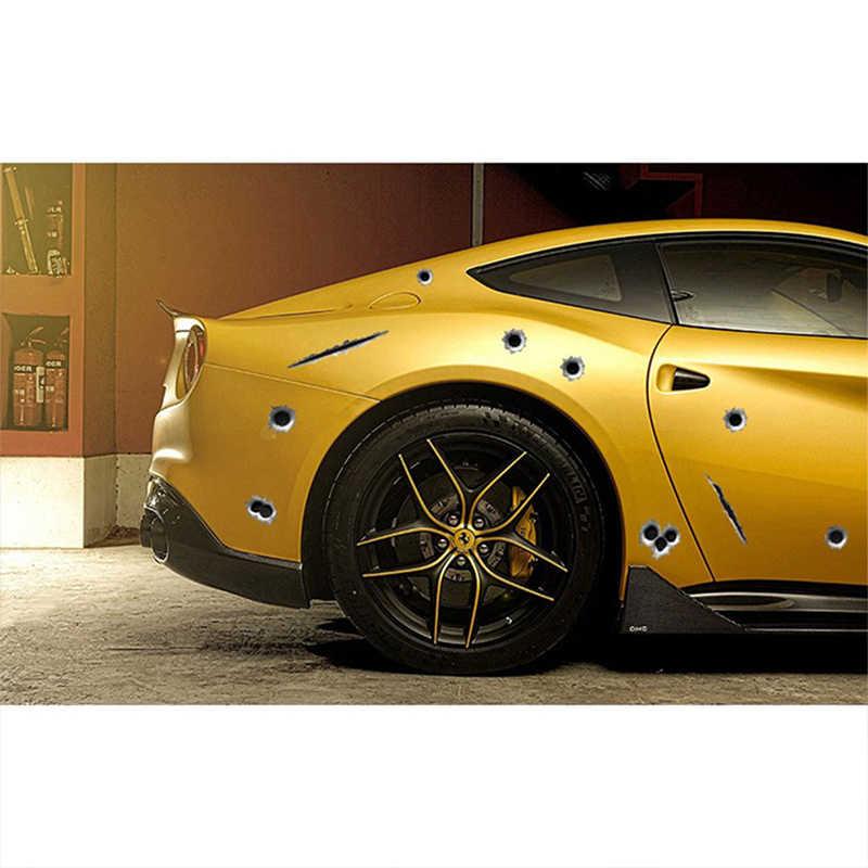 ZDPARTA 1 ADET Araba Styling 3D Mermi Delikleri Için Çamurluk Vent Etiketler Suzuki Grand Vitara Swift SX4 Mitsubishi ASX Audi A 4 Fiat 500