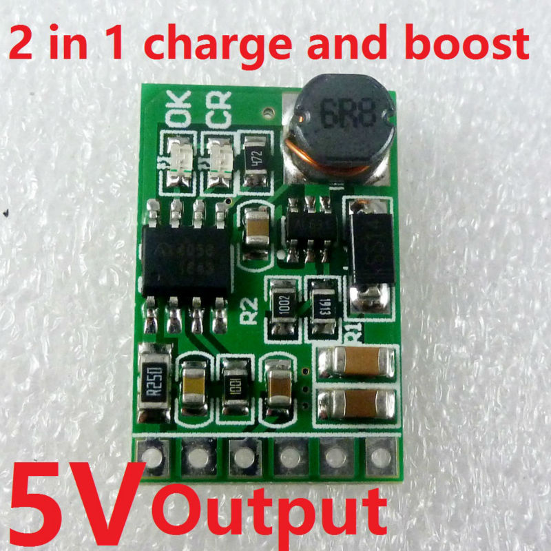 6W 5V UPS mobile power Diy Board Charger & Step-up DC DC Converter Module for 3.7V 18650 lithium battery