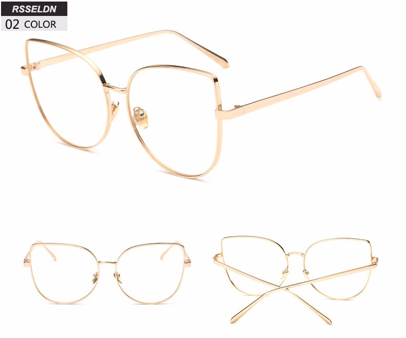 71f8f16b7 RSSELDN جديد 2019 الأزياء القط العين إطارات النظارات العلامة التجارية تصميم  خمر القط العين النظارات الإطار المرأة واضح الأسود ليوبارد D3079USD  6.58/piece