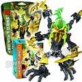 Bela hero factory ataque cerebral scarox bloques de construcción modelo niños juguetes compatibles con lego