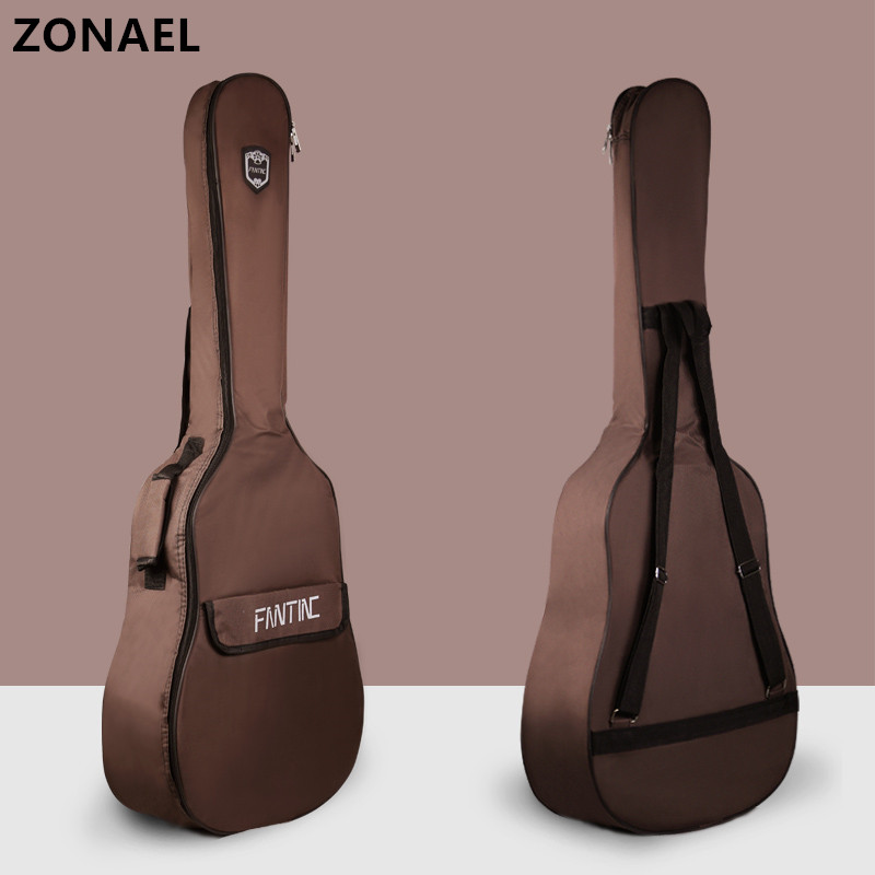 ZONAEL36 39 41 Inch Thicken Folk Flattop Balladry Steel-string Acoustic Classical Guitar Bag Case Backpack Accessories Carry Gig ukulele bag case backpack 21 23 26 inch size ultra thicken soprano concert tenor more colors mini guitar accessories parts gig