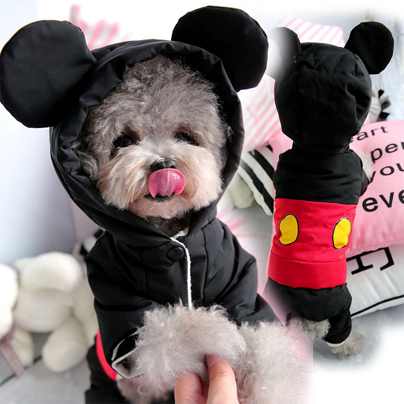 Cute Winter Warm Dog Clothes Jumpsuit Small Dog Overalls Yorkies Yorkshire Terrier Coat Waterproof Puppy Chihuahua Pet Costume|Dog Coats & Jackets| |  - title=