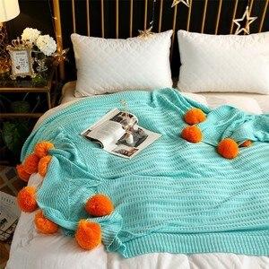 Image 4 - CAMMITEVER mantas de hilo de ganchillo 100% de algodón para bebés, adultos, cama de doble tamaño