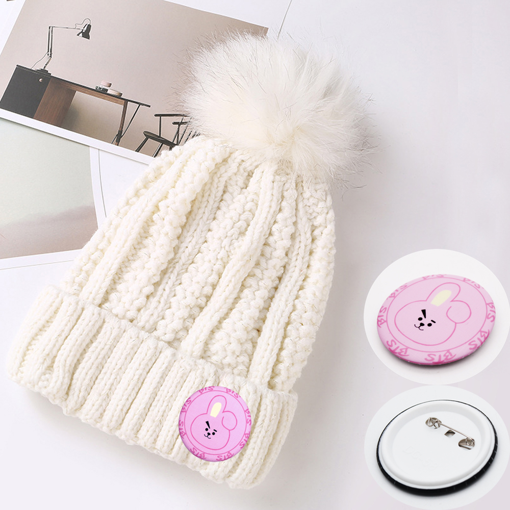 960dd7d331 US $4.99 |Giancomics Free ! BTS Hat Pin Beanie Knitted Adult Cap Big  Elasticity Very Warm Cotton Fashion Suitable for winter Unisex-in Anime  Costumes ...