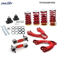 Pivot Front Camber Kits Rear Lower Control Arms Lower Coilcocver Spring Fits For Honda Civic EG