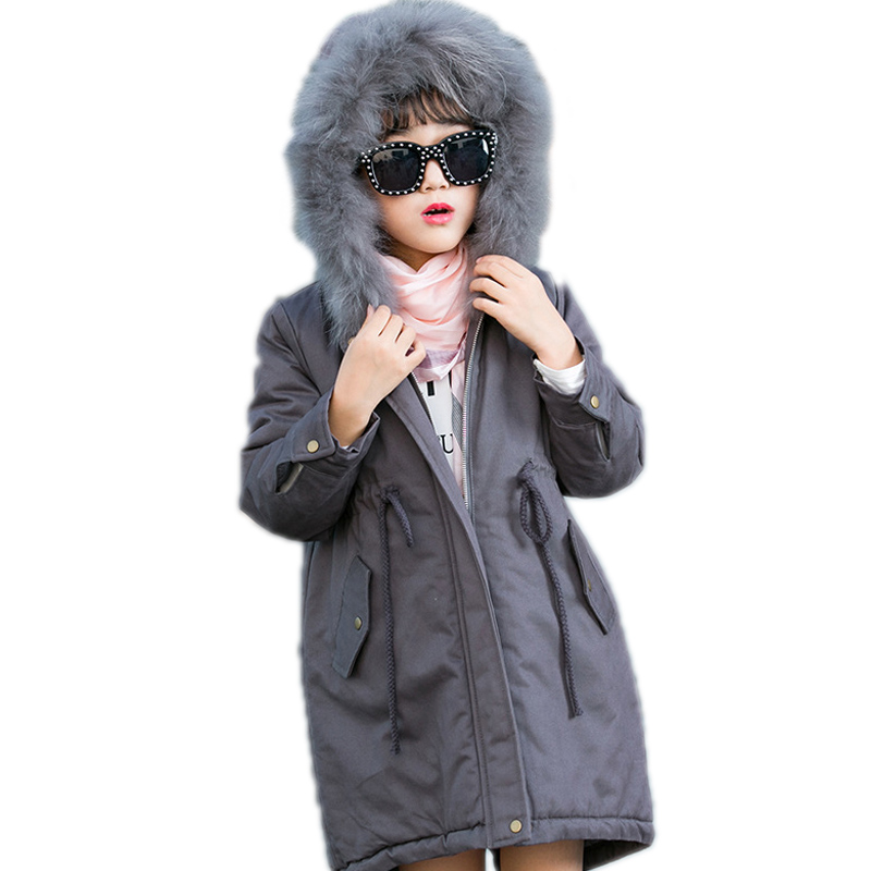 girl winter jacket kids clothes solid thicken warm girls cotton padded coat big collar hooded girl winter coat children outwear 2018 girl winter jackets kids winter jacket solid long section girl duck down jacket big collar hooded children outwear jackets