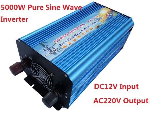 dual digital display 5000w max 10000W DC36V to AC220V pure sine wave inverter