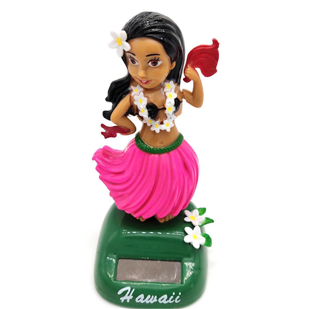 Солнечный танцующий Гавайский девочка хула качающаяся голова игрушка авто Интерьер декомпрессия приборной панели украшения автомобиля аксессуары для автомобиля - Цвет: C