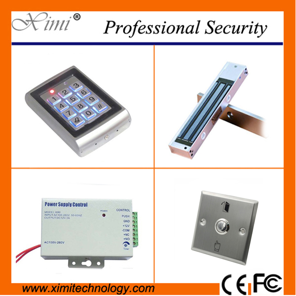 Metal face waterproof 125khz RFID card access control standalone 500 figerprint user keyboard access control metal rfid em card reader ip68 waterproof metal standalone door lock access control system with keypad 2000 card users capacity