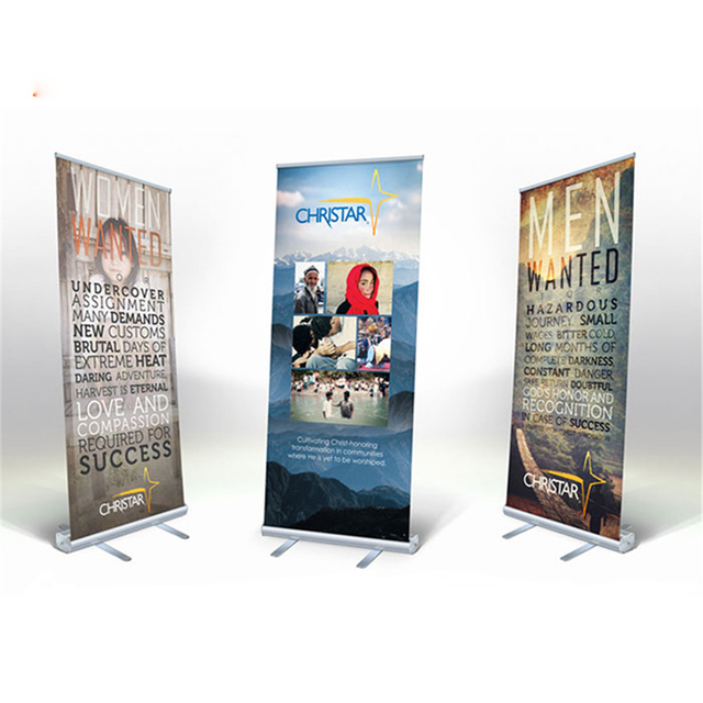 Us 1588 80200cm Aluminum Alloy Roll Up Banner Retractable Banner Stand Frame Advertising Trade Show Large Photo Poster Display Rack In Flip Chart