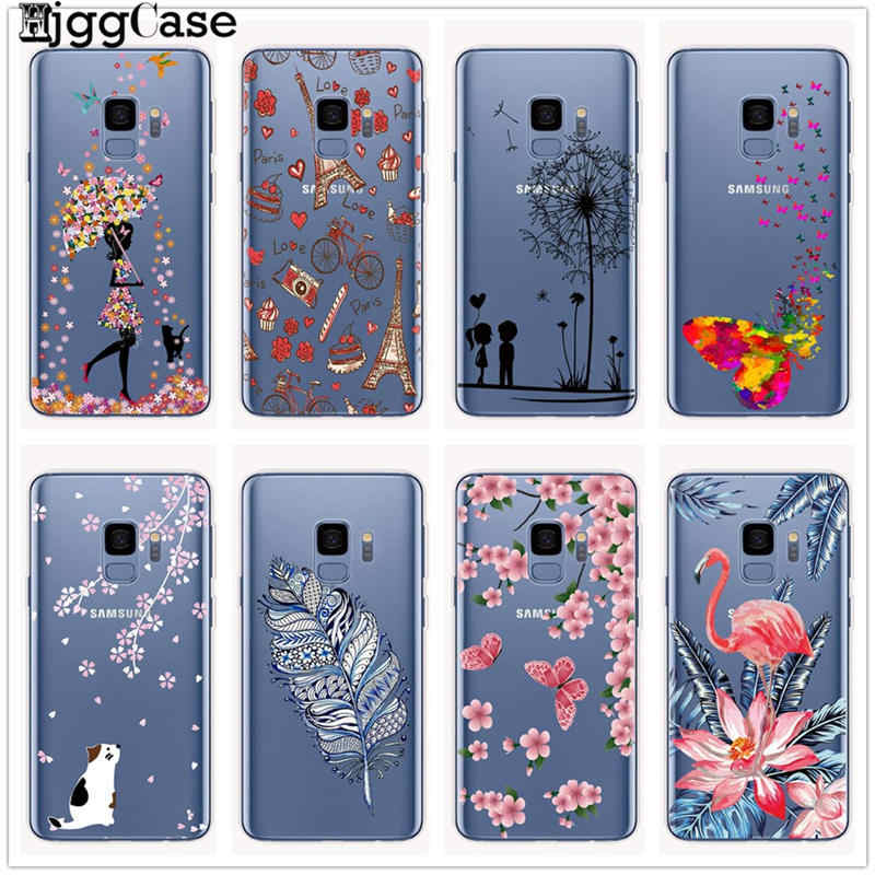 Cartoon Butterfly Pattern Soft TPU Silicone Phone Back Case Cover For Samsung Galaxy S6 S7 Edge S10 S8 S9 Plus S10e Flower Coque