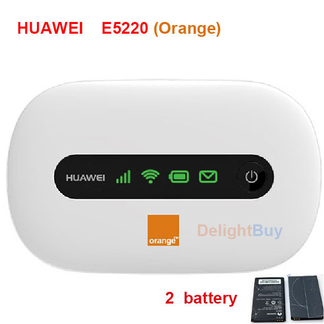 huawei e5220 e5 mini e5331 routeur sans fil hspa pocket wifi 21 mbps avec 2 batterie orange. Black Bedroom Furniture Sets. Home Design Ideas