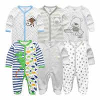 6 ชิ้น/ล็อตเสื้อผ้าเด็ก jumpsuits ทารกแรกเกิดเด็กทารกหญิง Romper เด็กทารก Roupa de bebe 3 6 9 12M เด็ก Japamas เสื้อผ้า