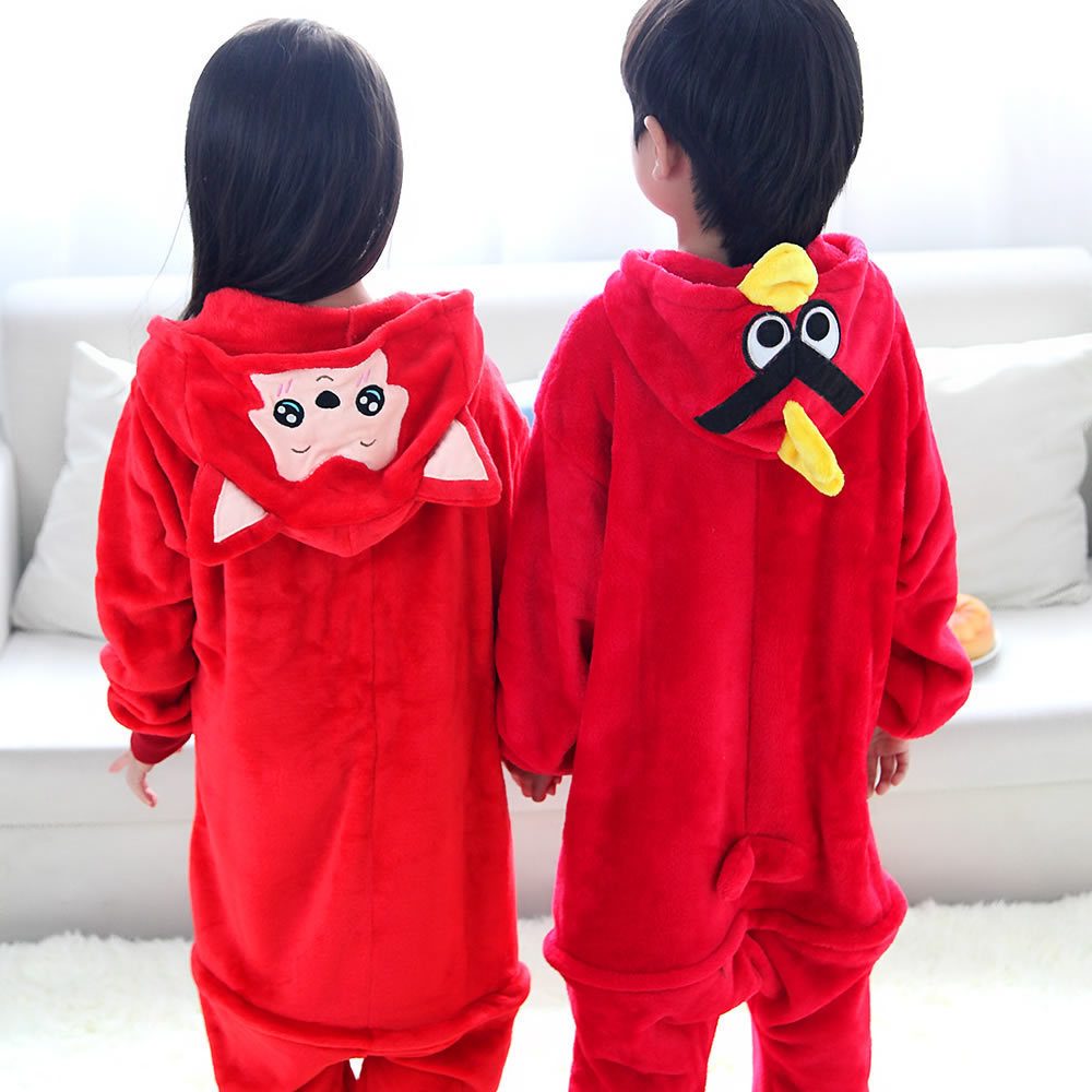8c300ea34b Childrens Cartoon Red fox Onesies costume bird cosplay pajamas flannel  sleepwear Halloween costume for Kids Christmas clothes on Aliexpress.com