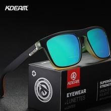 KDEAM Fashion Guys Sun Glasses Polarized Sunglasses Men Classic Design All-Fit Mirror Sunglass With Brand Box CE