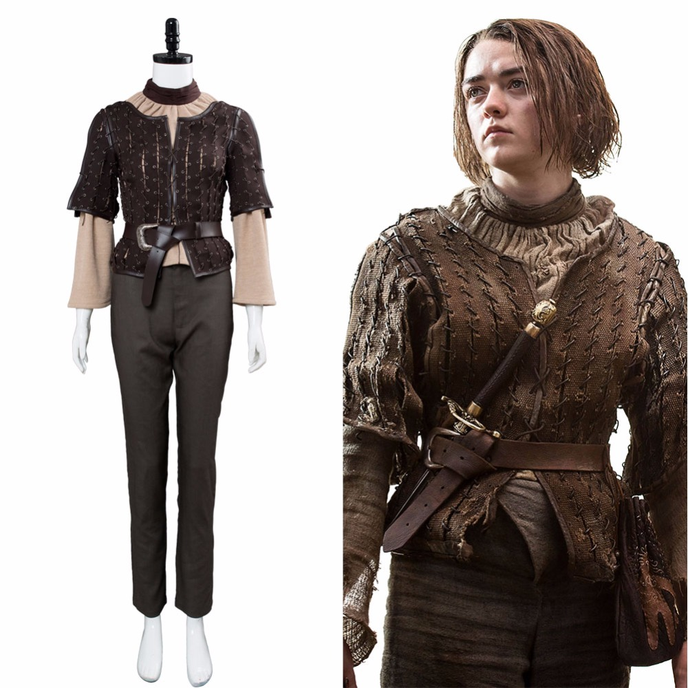 Us 82 79 10 Off Custom Game Of Thrones Cosplay Arya Stark Costume Got Arya Costume Full Set Outfit Girls Women Halloween Costume In Movie Tv
