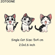 ZOTOONE DIY Cartoon Cat Patch For Clothing Iron On Decoration Kitten Patches Heat Transfer Ironing Stickers T-shirt Dress D