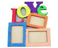 אהבת משלוח חינם לבן מסגרת תמונה עץ מסגרת בסיס DIY יצירתי מסגרת תמונת אמנות בית תפאורה