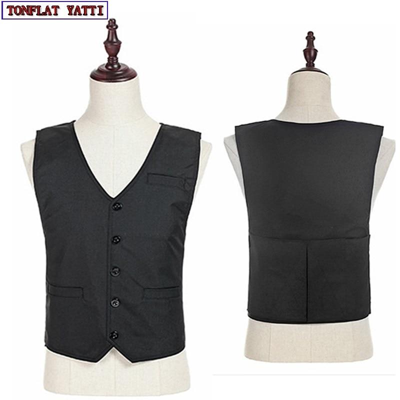 все цены на New Bulletproof Vest Aramid fiber Nij II Police Grade Polymer Bullet Proof Vest V-Neck Stealth Civilian Soft Gilet Pare Balle онлайн
