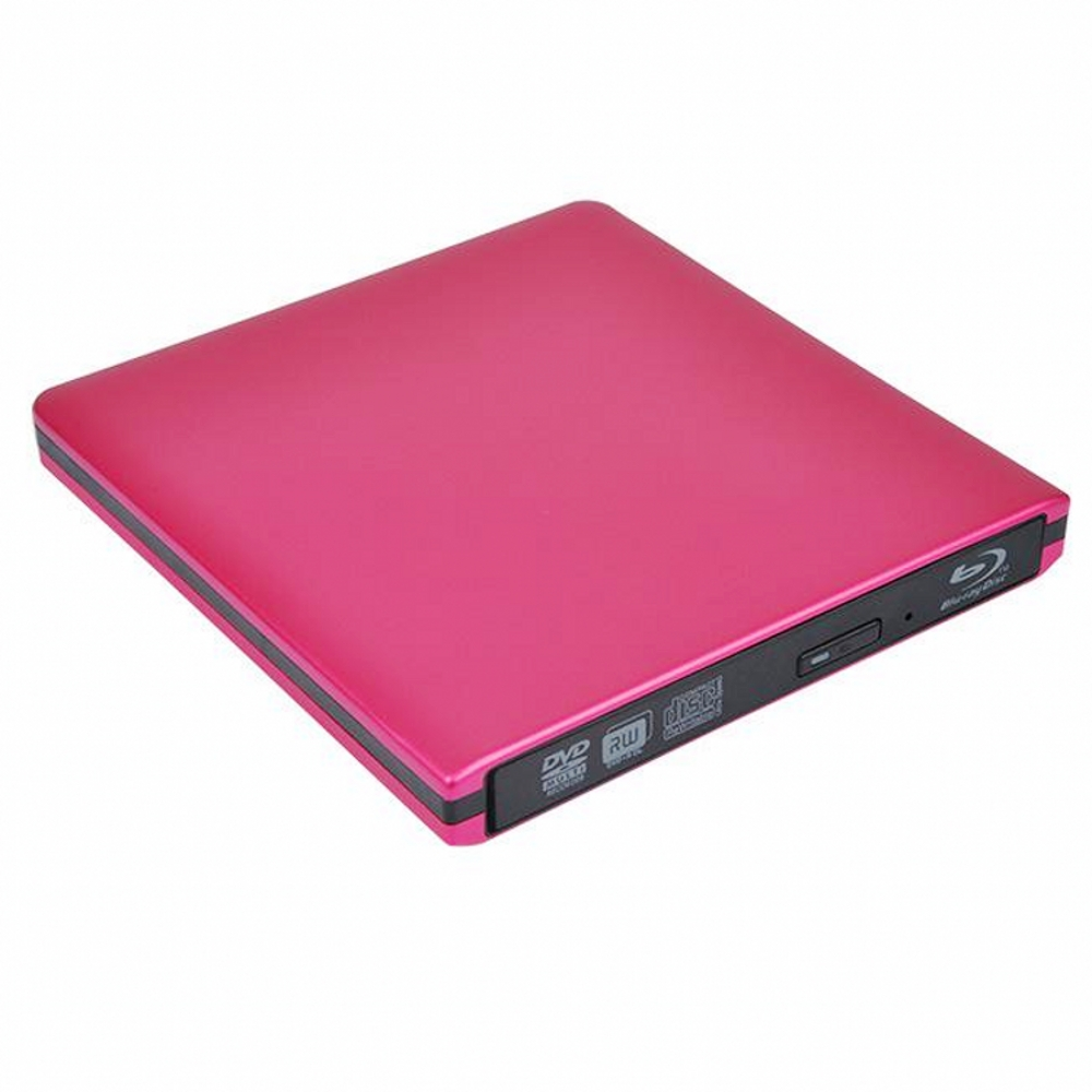 Red Metal USB 3.0 External 6X BD Blu Ray DVD RW DVD DL CD RW Drive Writer Burner For Mac Desktop Laptop WINDOWS XP/7/8/10
