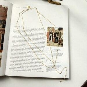 Image 4 - LouLeur 925 sterling silver pig naso doppio collana in oro città della moda del progettista della collana della catena per le donne 2018 festival dei monili di