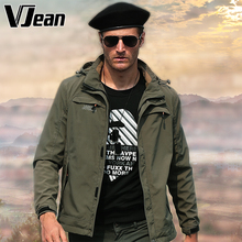 V JEAN winter jacket coat man army military tactical soft shell jackets with hood army clothes